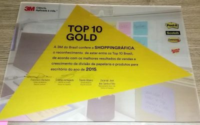 Shoppingráfica é premiada com o Top 10 Gold da 3M do Brasil