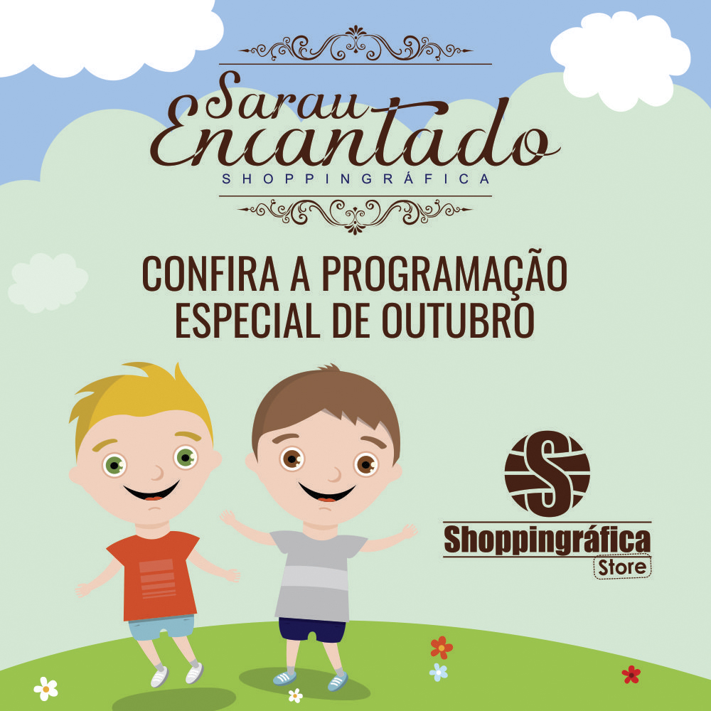 Sarau Encantado Shoppingráfica traz uma programação especial para o mês de outubro