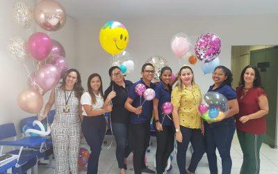 Colaboradores passam por treinamento em balões